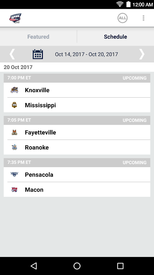 SPHL Live- screenshot