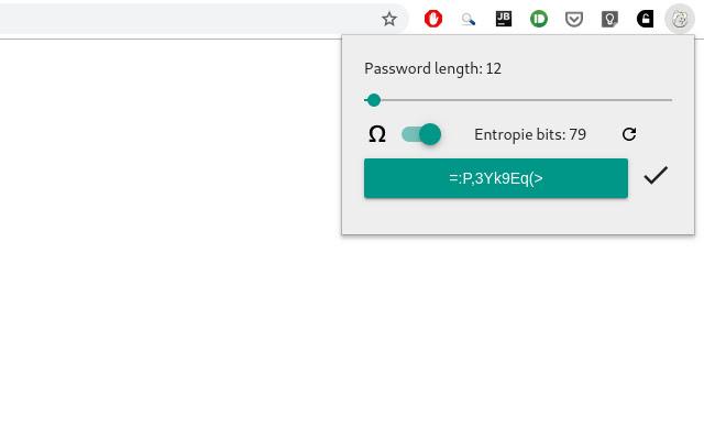 Chrome Password Generator