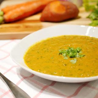 Kale, Carrot & Turmeric Bisque.