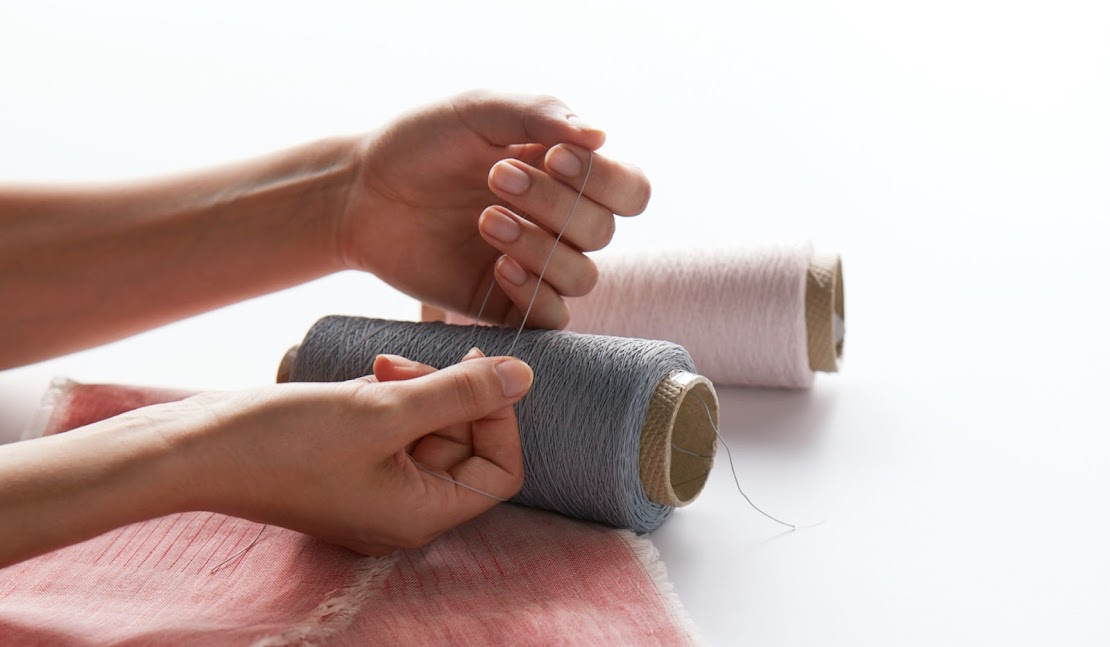 Designer working with Jacquard Threads