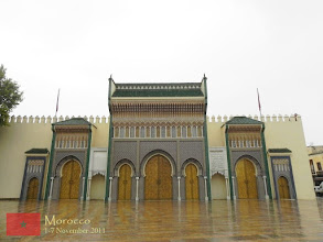Photo: the main gate of the Royal Palace in Fes
