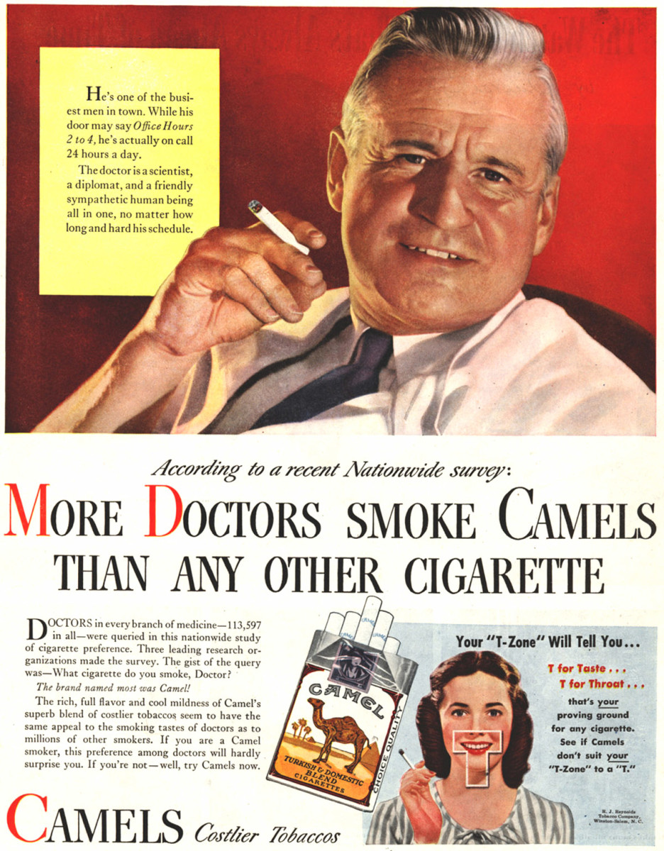 Image result for smoking is healthy ads