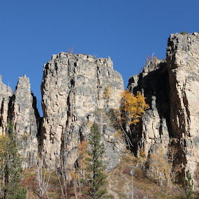 Spearfish Canyon Colors by Denise Parker - Landscapes Mountains & Hills ( mountains, skies, colours,  )