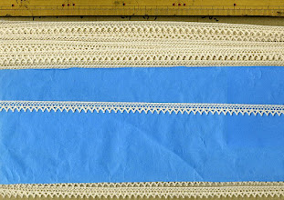 Photo: №2930-1-137綿100%:トーションキナリ:巾10mm   (50m以下¥60/m)税込