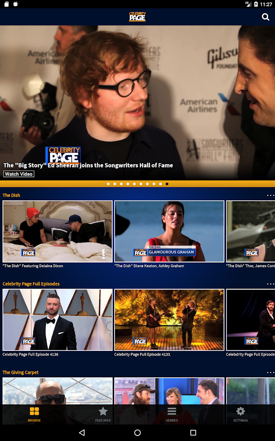 CelebrityPage- screenshot