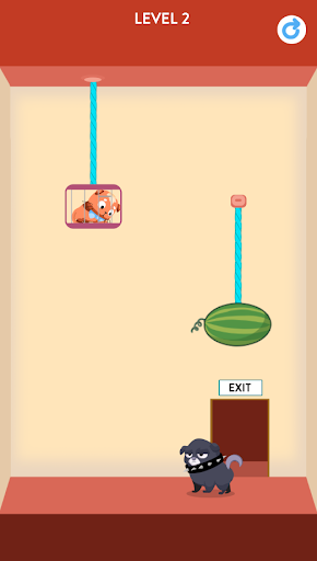 Rescue Kitten - Rope Puzzle apkmind screenshots 1