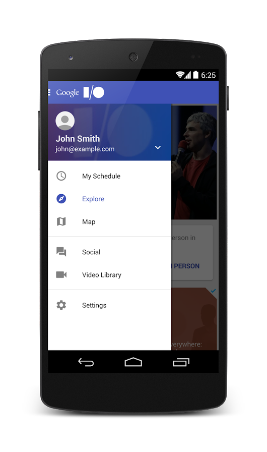 Start exploring I/O 2014 with the new and improved Android mobile app