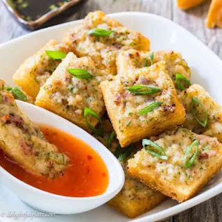 Vietnamese Squid Cake on Toast.
