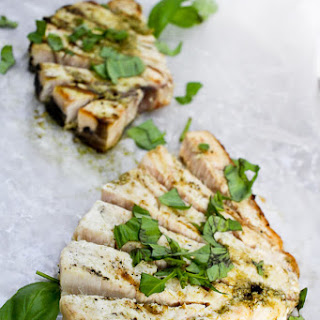 Grilled Pesto Swordfish.