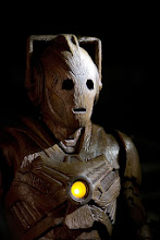 Photo: A wooden Cyberman in the Doctor Who Christmas Special 2013, The Time of the Doctor.