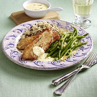 Turkey Cutlets with Rice and Green Beans