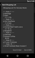 Screenshot of Grocery List - rShopping