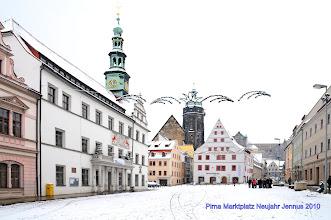 Photo: Pirna Marktplatz mit Kirche und Schloß