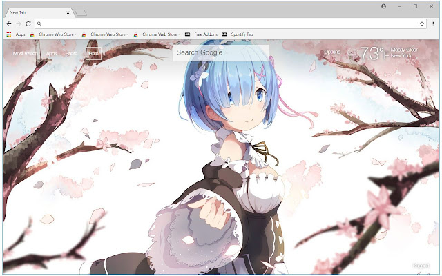 Re Zero Rem HD Wallpaper New Tab Themes