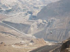 Photo: Cable car up to the Masada plateau