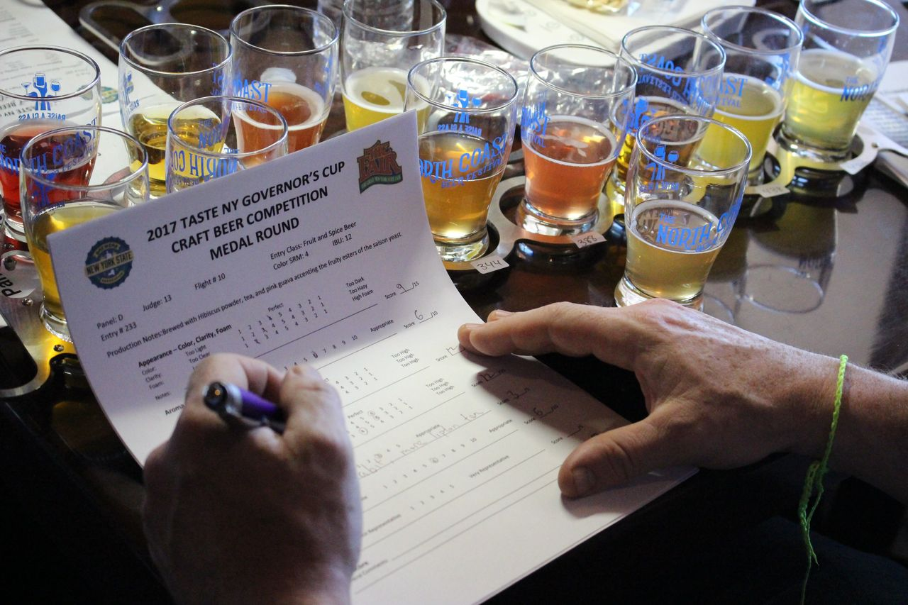 beer competition survey being completed