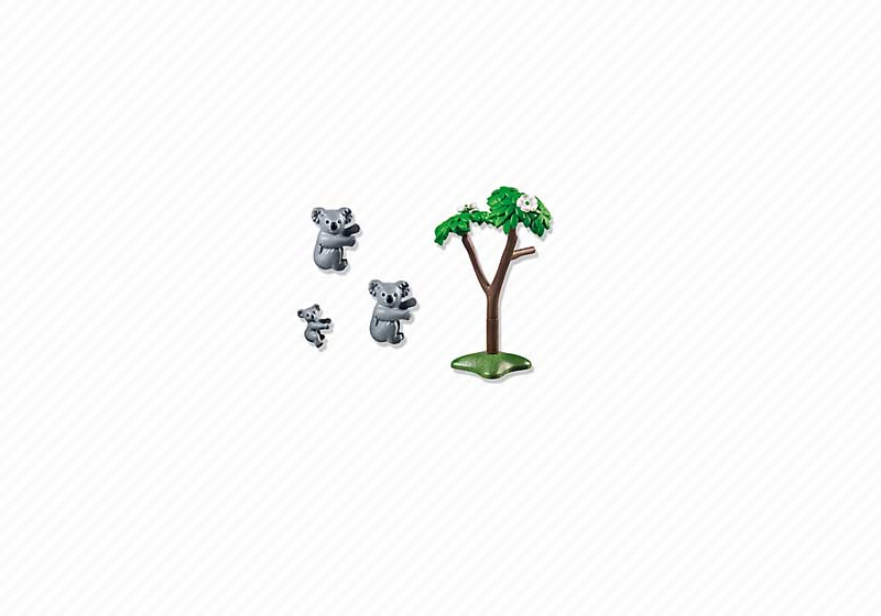 Contenido Real de Playmobil® 6654 Familia de Koalas
