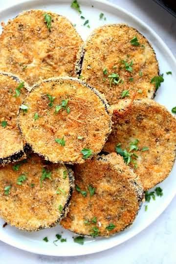 Garlic Parmesan Baked Eggplant Recipe