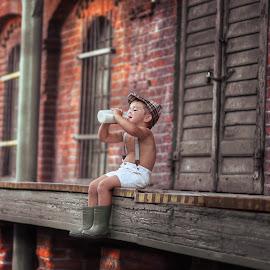Milk by Piotr Owczarzak - Babies & Children Children Candids ( mill, mogilno, children, childhood, boy, poland )