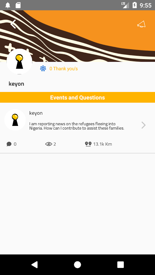 KeyOn - Report Events and Ask Questions- screenshot