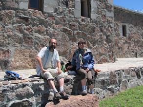 Photo: Armenien: Zusammen  mit  Veronique und Dominique aus Dijon erfolgte die Fahrt  zum See Kari Lich am Fuße des Aragaz