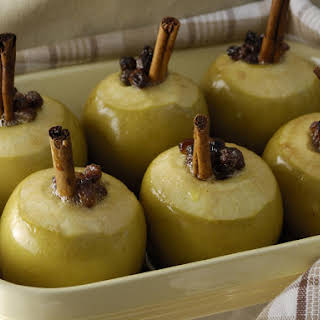 Baked Apples with Cinnamon Ricotta.