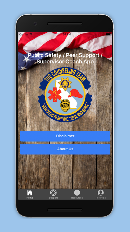 Public Safety Peer Support- screenshot