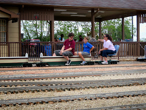 Photo: Conductor Elizabeth Alexander with her sons Case and Zack.    liHALS Public Run Day 2014-0419 RPW  12:56 PM