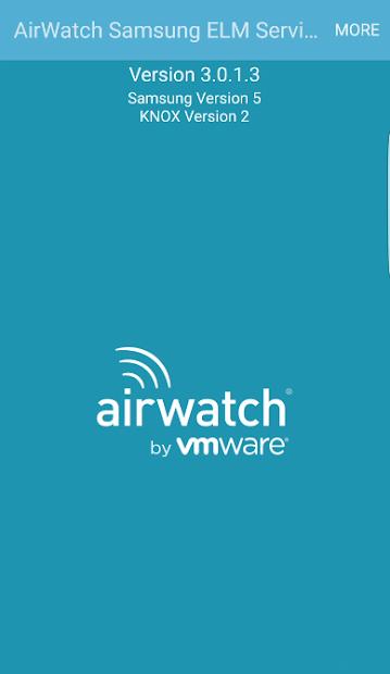 AirWatch Samsung ELM Service screenshot 2