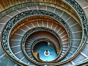 Photo: Helicoidal Stairs at the Vatican Museum