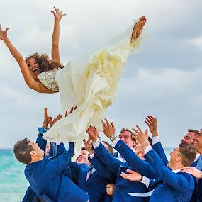Wedding Day Toss by Adam Snyder - Wedding Bride