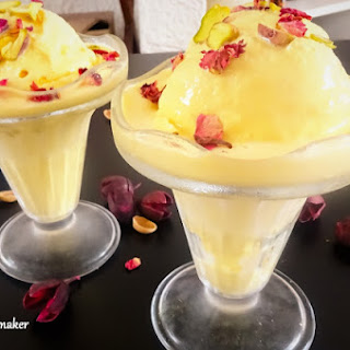 No-Churn Persian Ice cream