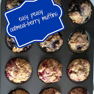 Easy-Peasy Oatmeal-Berry Muffins