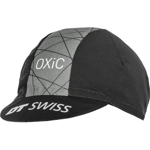 DT Swiss Cycling Cap: Black/Gray, One Size