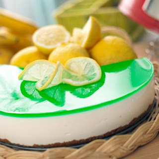 No Bake Lemon Lime Cheesecake