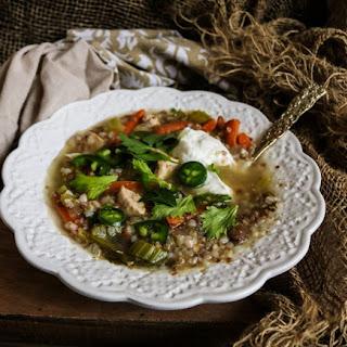 Chicken Mushroom Buckwheat Soup.