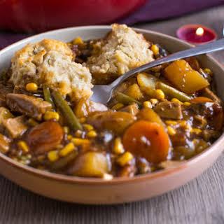 Vegetarian 'beef' Stew With Easy Suet Dumplings.