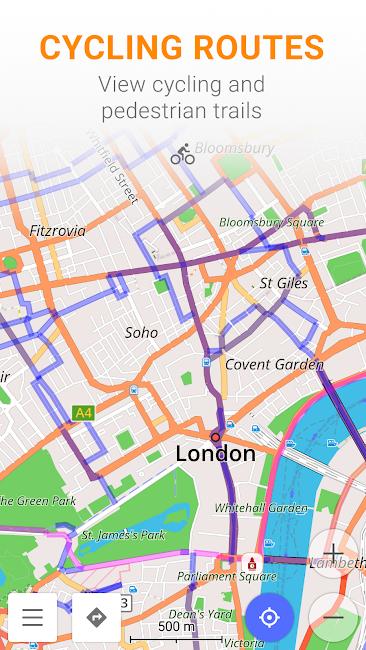 #6. Maps & GPS Navigation OsmAnd+ (Android)