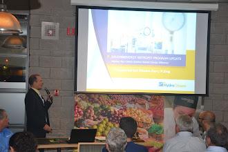Photo: Speaker Shawn Carr talking about Hydro Ottawa SaveonEnergy Retrofit Program
