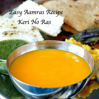 Easy Aamras Recipe | Keri No Ras (Mango Dip).