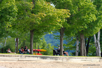 Photo: Beach and picnic area at Boulder Beach State Park by Lene Gary