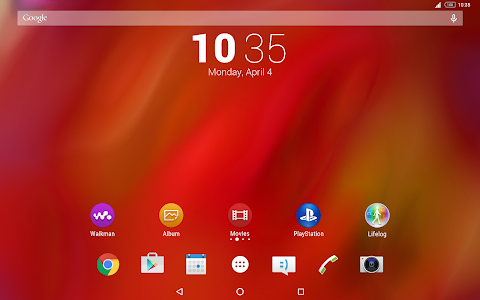 Theme Xperia™ Red screenshot 4