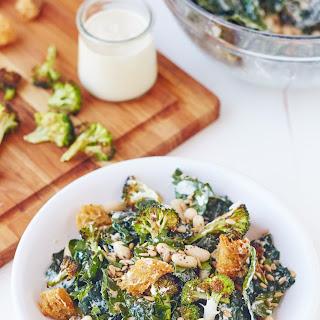 Broccoli and Kale Caesar Salad.