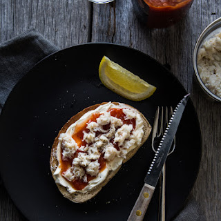 Crab Toast with Cream Cheese.