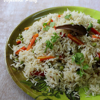Vegetable Pilaf - Quick Way in Rice Cooker