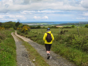 Photo: We're walking back to Padstow, visible in the distance.
