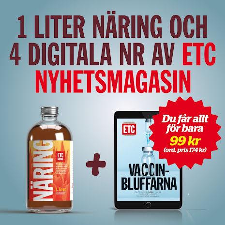 1 liter näring + 4 digitala nr av ETC Nyhetsmagasin för 99 kr!