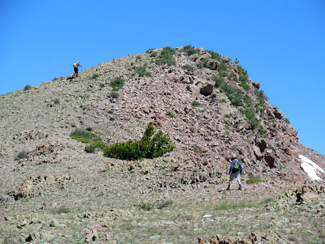 Final climb to City Creek Peak