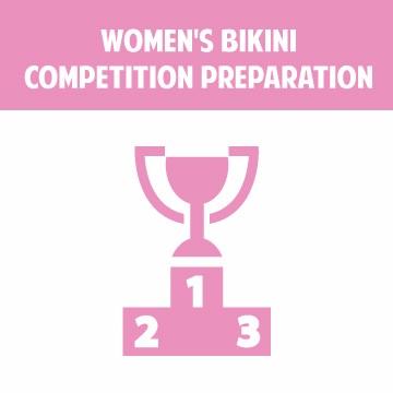 Specialized training in women's bikini competition preparation.