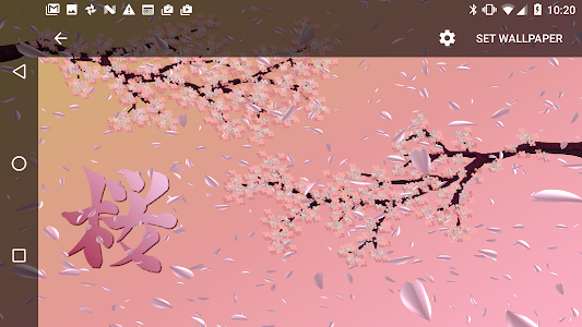 Cherry Blossoms Live Wallpaper screenshot 4
